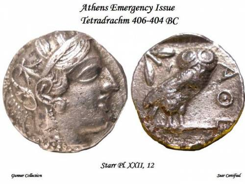 "Athens ""Emergency Issue"" Plated/Fouree Tetradrachm"