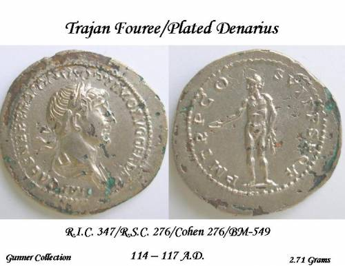 Trajan Fouree Denarius