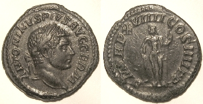 Base Denarius of Caracalla