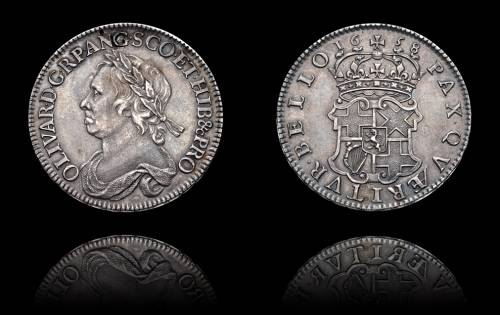 Oliver Cromwell Halfcrown 1658