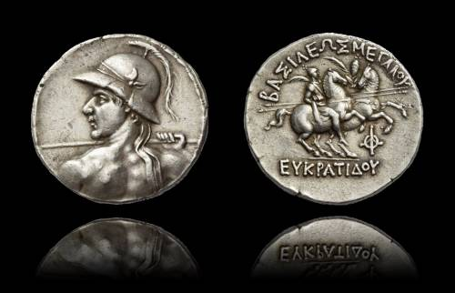 Kings of Bactria, Eucratides I, circa 170-145.