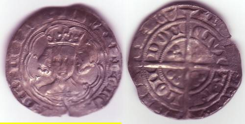 Edward III Series Gg Groat - Mint London (LAL Gg 2/7)