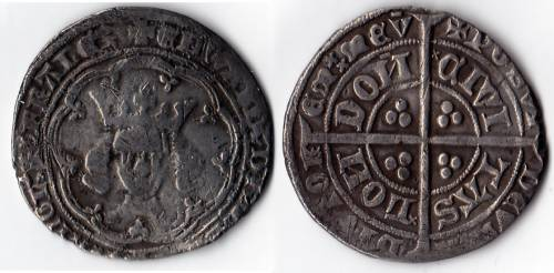 Edward III Post Treaty Groat - Mint London