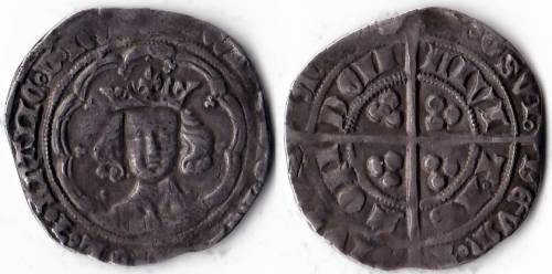 Edward III Series Ge Groat - Mint London (LAL Ge 3/ ?)
