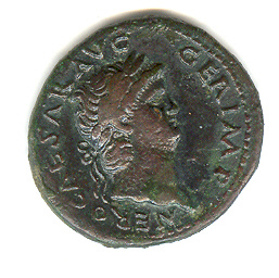 Obverse of Nero Temple of Janus As