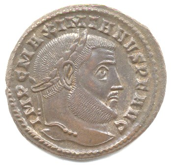 Galerius Follis Ticinum second officina