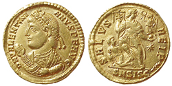 Valentinian I, AV Solidus, February 25, 364-August 24, 367, First Period, S