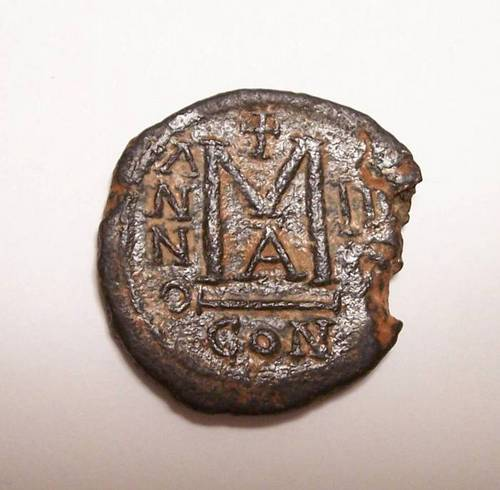 Reverse of Maurice Tiberius Year 2 Follis
