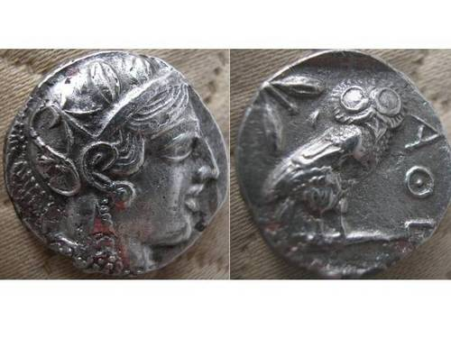 Athens Emergency Issue Plated Tetradrachm