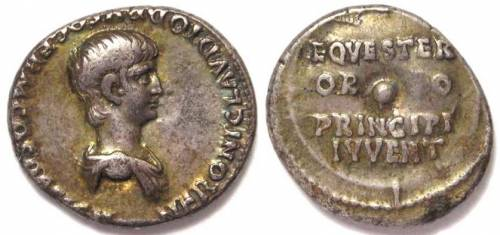 Nero as Caesar pre-accession denarius