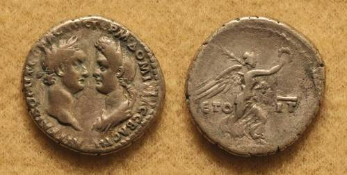 Domitian with Domitia Longina